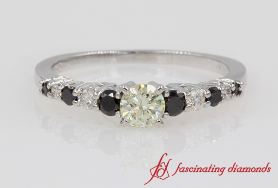 Graduated Black Diamond Ring