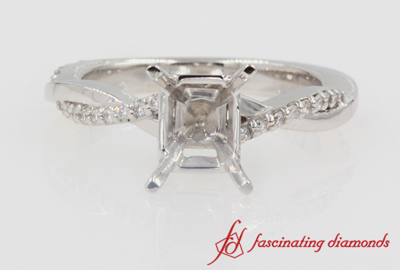 1/4 Ctw. Infinity Twist Diamond Ring Setting