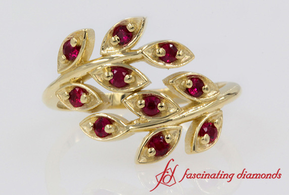 Ruby Inspired Leaf Band