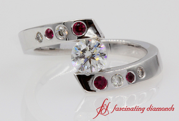 Ruby Swirl Engagement Ring