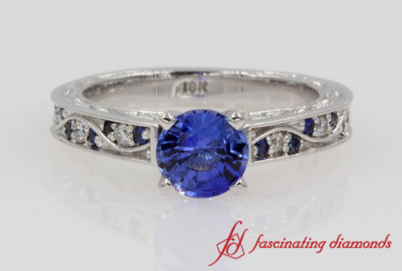 Vintage Colored Engagement Ring