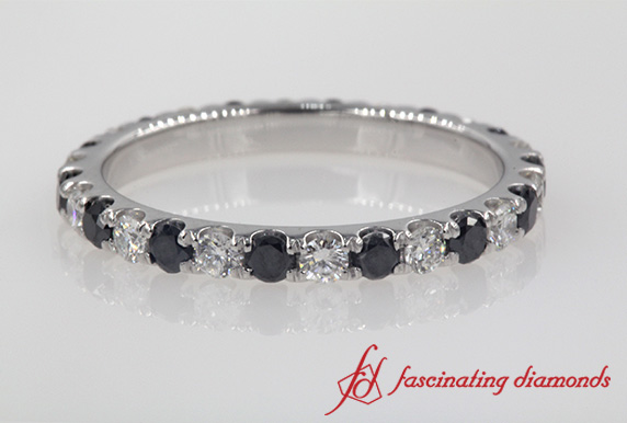 Round Black Diamond Eternity Band