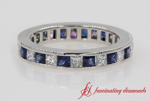 2 Karat Princess Cut Diamond Eternity Band