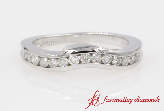Customized Channel Set Diamond Curve Band