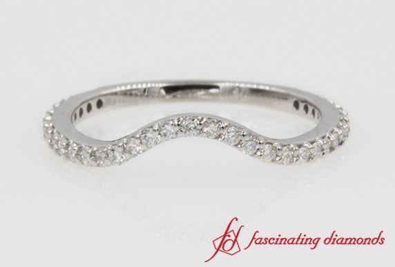 Curved Diamond Band