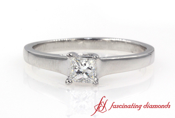 White Gold Single Diamond Ring
