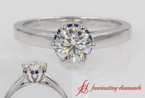 Studded Prong Engagement Ring