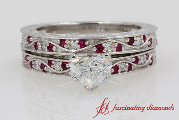 Heart Diamond Bridal Set