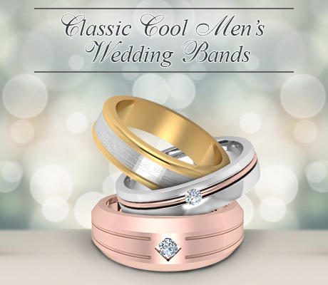 Classic Cool Men's Wedding Bands