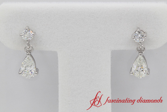 1.2 Ct. Pear Drop Diamond Earring