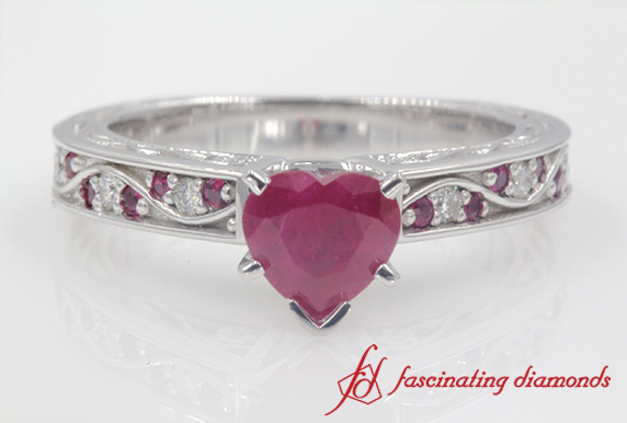 Heart Shaped Vintage Engagement Ring