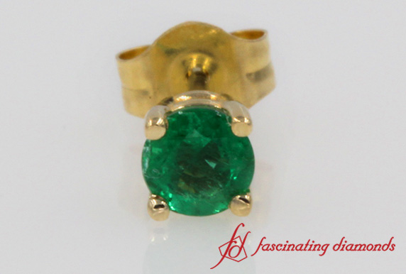 Green Emerald Stud Earring For Men