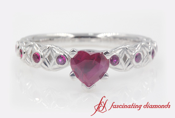 Ruby Bezel Set Engagement Ring