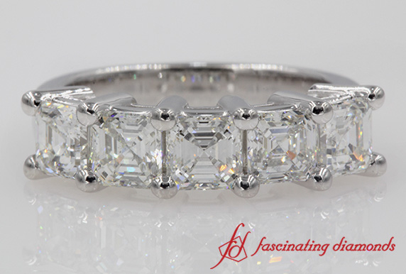 2.5 Ct. Diamond Anniversary 5 Stone Wedding Band