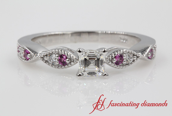 Delicate Wedding Ring With Pink Sapphire