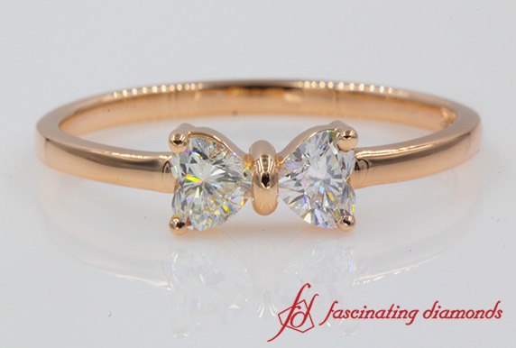 2 Heart Diamond Alternative Ring