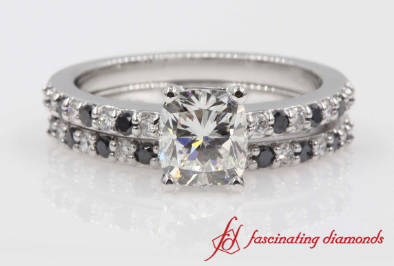 Cushion Cut Wedding Ring Set