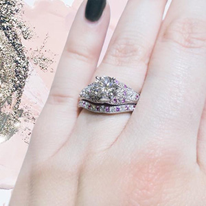 Vintage Pave Engagement Ring set