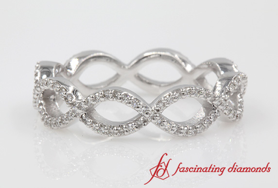 Infinity Twist Diamond Eternity Anniversary Ring