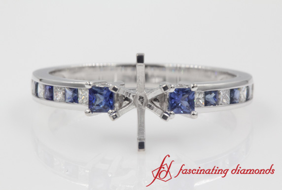 Petite Engagement Ring Setting With Sapphire