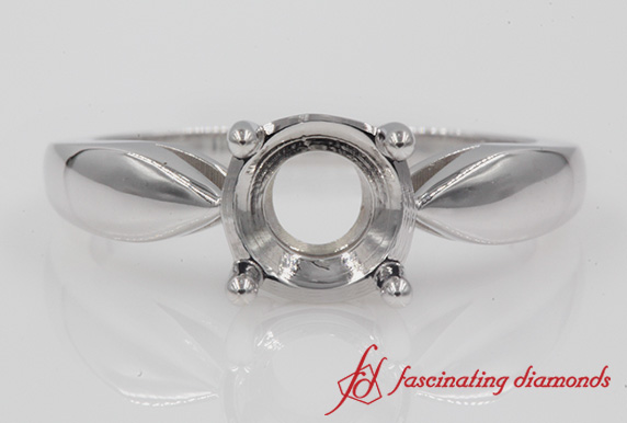 Tapered Solitaire Engagement Ring Setting