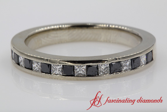 Channel Set Wedding Band