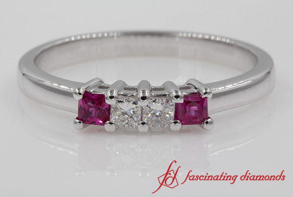 Customized Princess Cut Anniversary Band