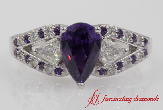Trillion Purple Topaz Ring