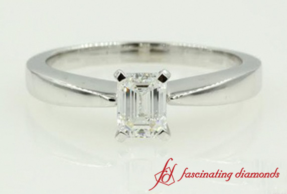 Tapered Emerald Cut Ring