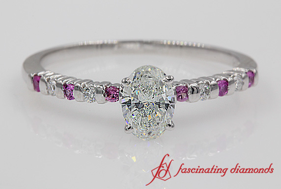 Petite Wedding Ring With Pink Sapphire