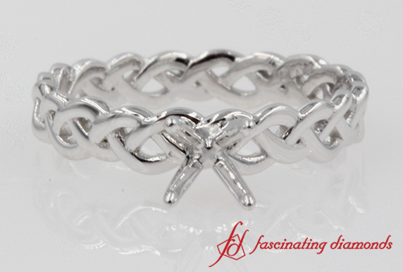 Platinum Braided Ring Setting