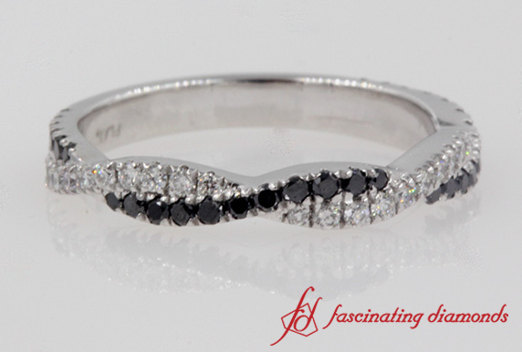 Twisted Black Diamond Band