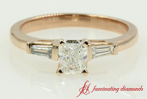 Radiant Diamond 3 Stone Ring