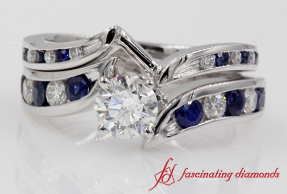 Swirl Bridal Ring Set