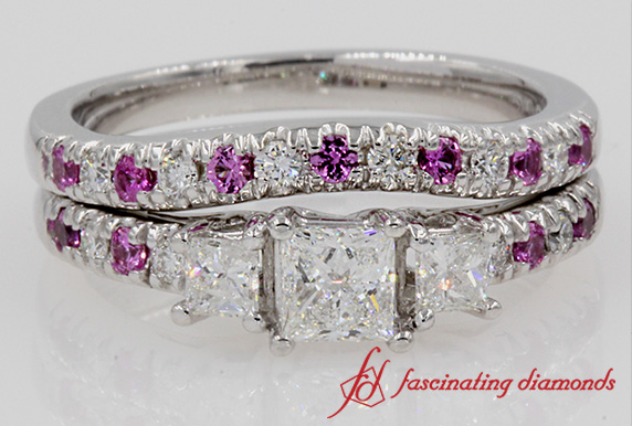 U Prong Diamond Wedding Set
