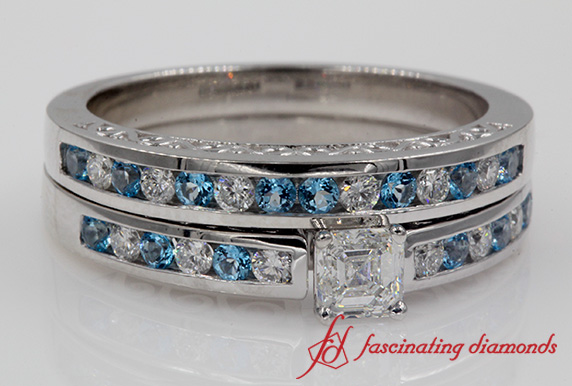 Filigree Topaz Wedding Set