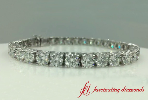 15 Ct. Round Diamond Eternity Bracelet