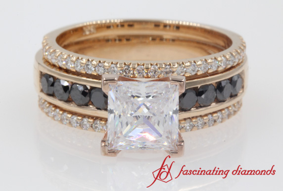 Channel Trio Bridal Ring Set