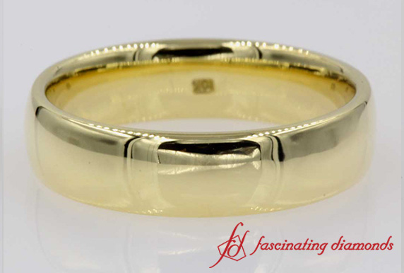 Comfort Fit Matte Finish Wedding Ring In 18k Gold
