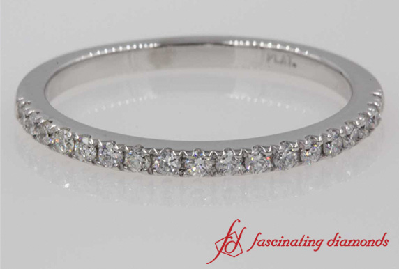 Delicate Diamond Anniversary Wedding Band In Platinum