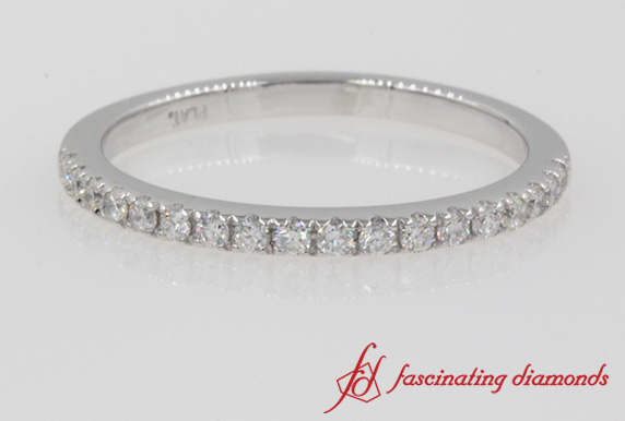 Delicate Diamond Wedding Band In Platinum