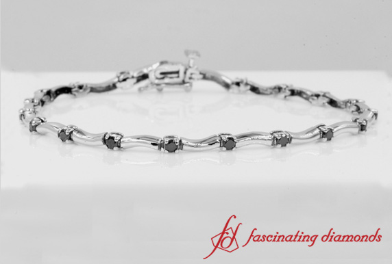 White Gold Wave Bracelet