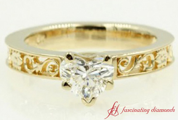 Heart Shaped Filigree Ring
