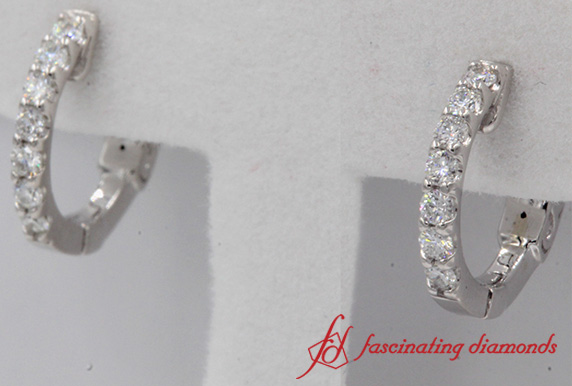 Hoop Round Diamond Earring