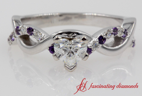 1 Ctw. Twisted Purple Topaz Ring