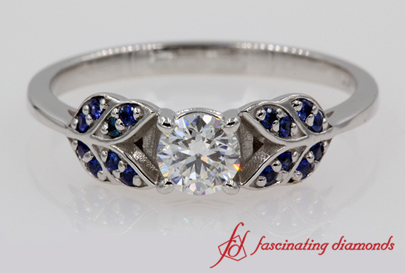 Leaf Style Sapphire Ring