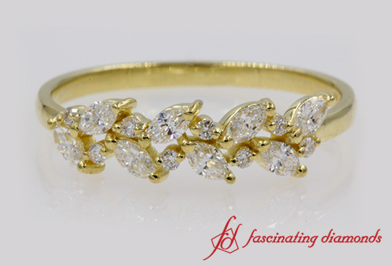 Marquise Diamond Wedding Band