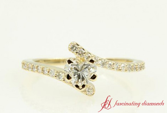 Petite Crossover Diamond Ring