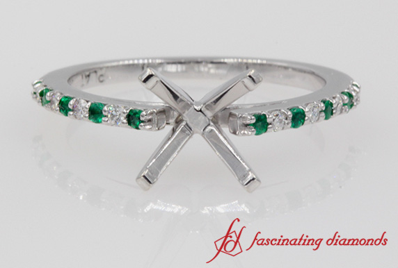 Emerald Petite Ring Setting