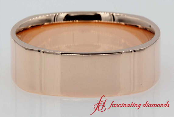 Square Comfort Fit Mens Band